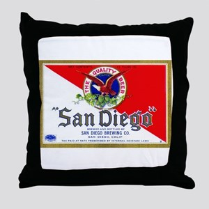 California Beer Label 9 Throw Pillow