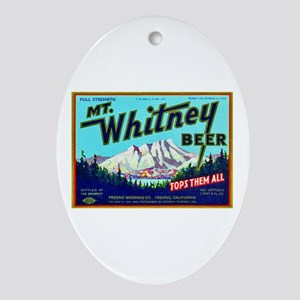 California Beer Label 7 Ornament (Oval)