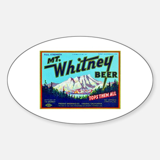 California Beer Label 7 Sticker (Oval)