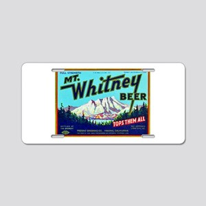 California Beer Label 7 Aluminum License Plate