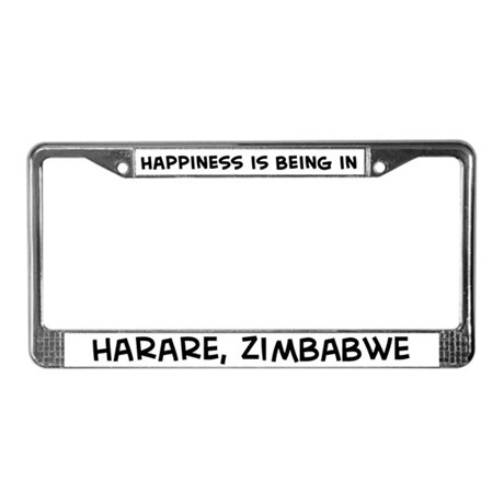 Happiness is Harare License Plate Frame