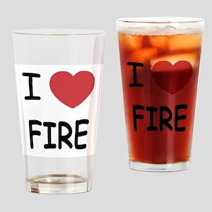 I heart fire Drinking Glass