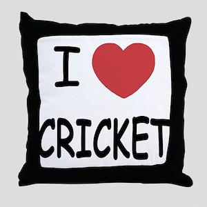 I heart cricket Throw Pillow