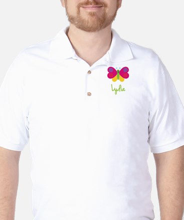 Lydia The Butterfly Golf Shirt