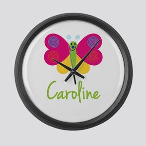 Caroline The Butterfly Large Wall Clock