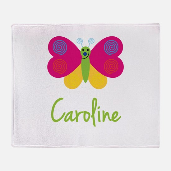 Caroline The Butterfly Throw Blanket