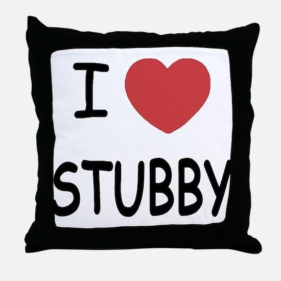 I heart stubby Throw Pillow