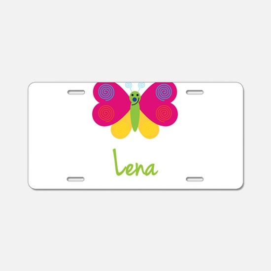 Lena The Butterfly Aluminum License Plate