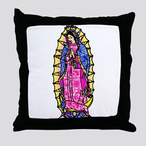 Virgin of Guadalupe Throw Pillow