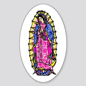 Virgin of Guadalupe Oval Sticker