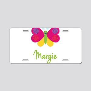 Margie The Butterfly Aluminum License Plate