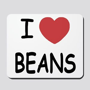 I heart beans Mousepad
