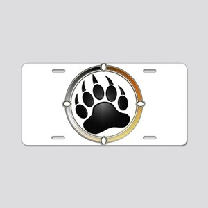 Bear Paw In Pride Circle Aluminum License Plate