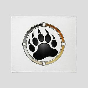 Bear Paw In Pride Circle Throw Blanket