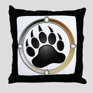 Bear Paw In Pride Circle Throw Pillow