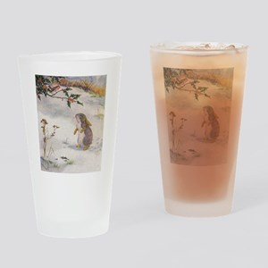 1927 Christmas Bunny Drinking Glass