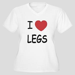 I heart legs Women's Plus Size V-Neck T-Shirt