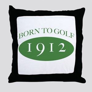 1912 Born To Golf Throw Pillow