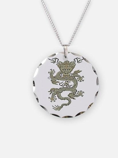 Quianlong Dragon Carved Necklace