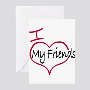 I love my friends Greeting Cards (Pk of 20)