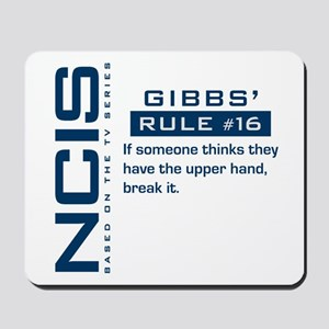 NCIS Gibbs' Rule #16 Mousepad
