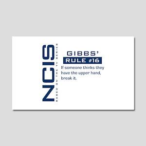 NCIS Gibbs' Rule #16 Car Magnet 20 x 12