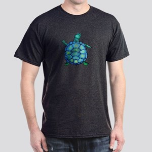 Blue Turtle Boogie Dark T-Shirt