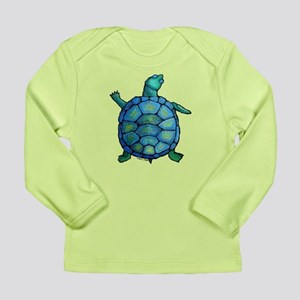Blue Turtle Boogie Long Sleeve Infant T-Shirt