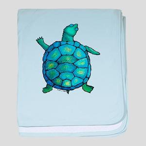 Blue Turtle Boogie baby blanket