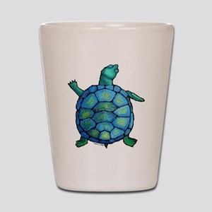 Blue Turtle Boogie Shot Glass