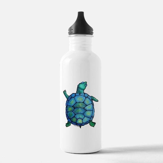 Blue Turtle Boogie Water Bottle