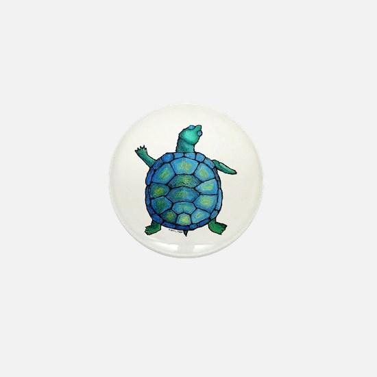 Blue Turtle Boogie Mini Button
