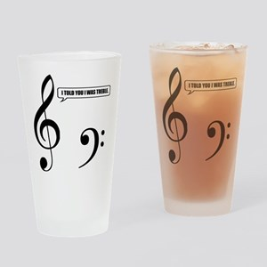 Treble Clef Drinking Glass