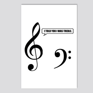 Treble Clef Postcards (Package of 8)