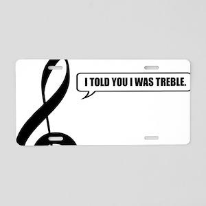 Treble Clef Aluminum License Plate