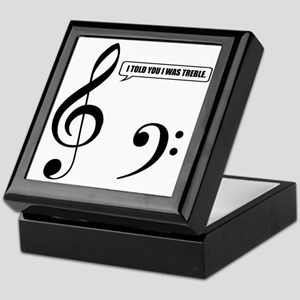 Treble Clef Keepsake Box