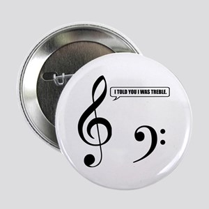 "Treble Clef 2.25"" Button"