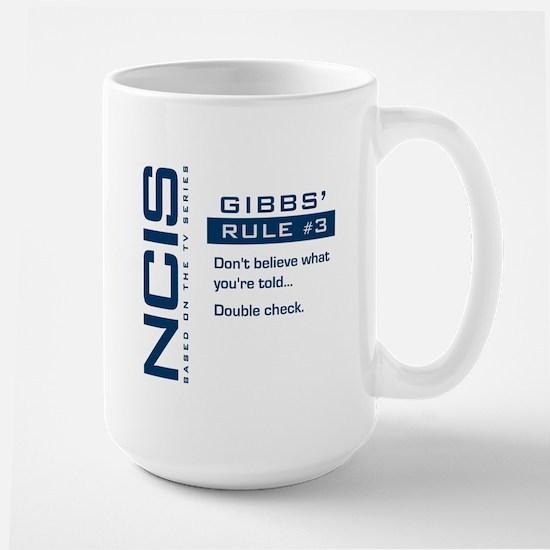 NCIS Gibbs' Rule #3 Large Mug