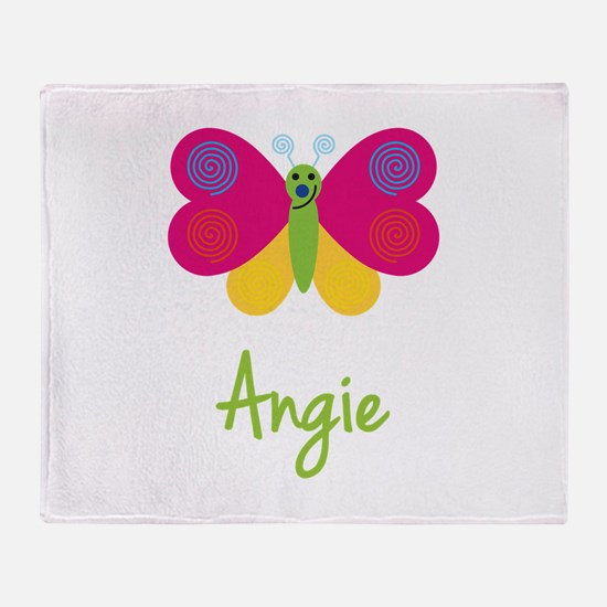 Angie The Butterfly Throw Blanket