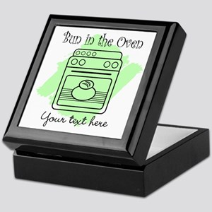 Bun in the Oven (green) Keepsake Box