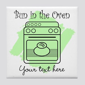 Bun in the Oven (green) Tile Coaster
