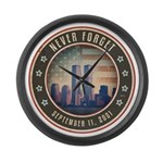 Never Forget Large Wall Clock