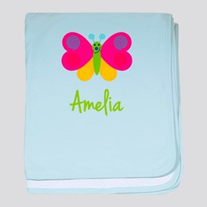 Amelia The Butterfly baby blanket