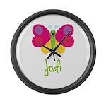 Jodi The Butterfly Large Wall Clock