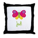 Jodi The Butterfly Throw Pillow