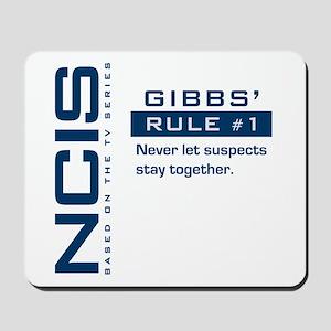 NCIS Gibbs' Rule #1 (Version 2) Mousepad