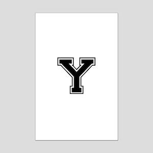 Varsity Letter Y Mini Poster Print