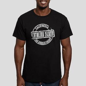 Catalina Island Title Men's Fitted T-Shirt (dark)