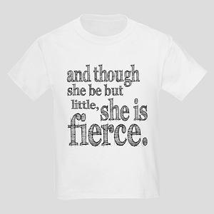 She is Fierce Shakespeare Kids Light T-Shirt