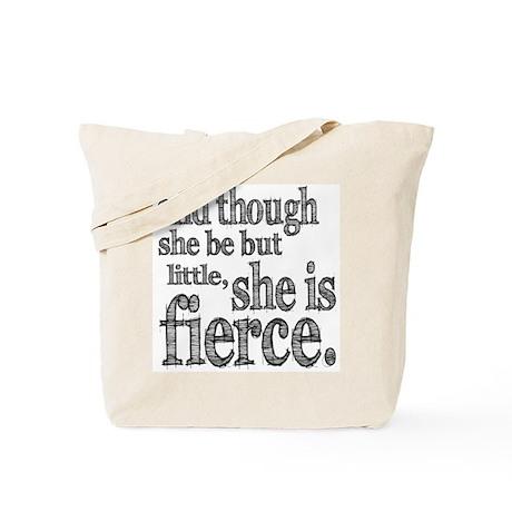 She is Fierce Shakespeare Tote Bag